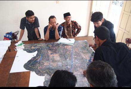 Penetapan Batas Desa bersama Bappeda Kabupaten Ban
